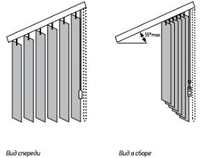Наклонные вертикальные жалюзи