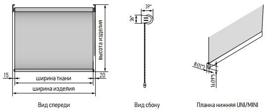 Технические особенности рулонных штор мини
